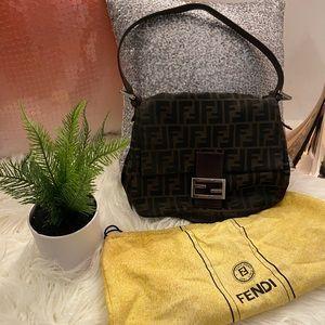 Vintage Fendi Zucca Mama Bag Baguette